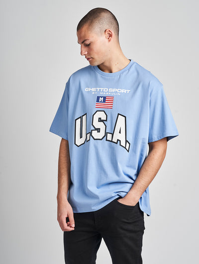 Maskulin Oskar T-Shirt Blue - Maskulin.de Shop
