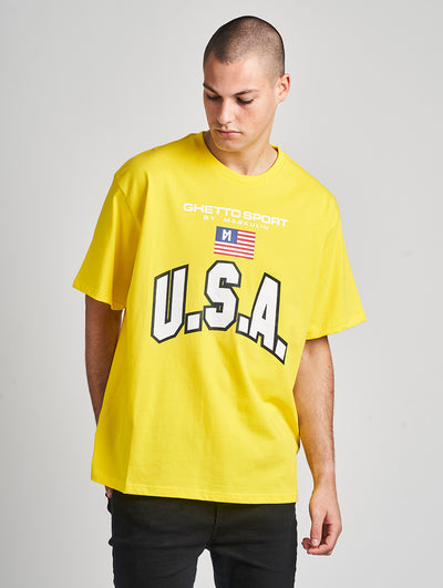 Maskulin Oskar T-Shirt Yellow - Maskulin.de Shop