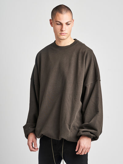 Maskulin M Oversized Crewneck Dark Olive - Maskulin.de Shop