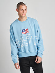 Maskulin Lukas Crewneck Blue - Maskulin.de Shop