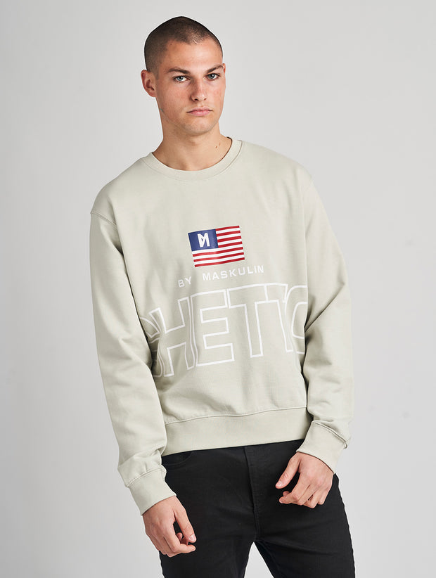 Maskulin Lukas Crewneck Grey - Maskulin.de Shop