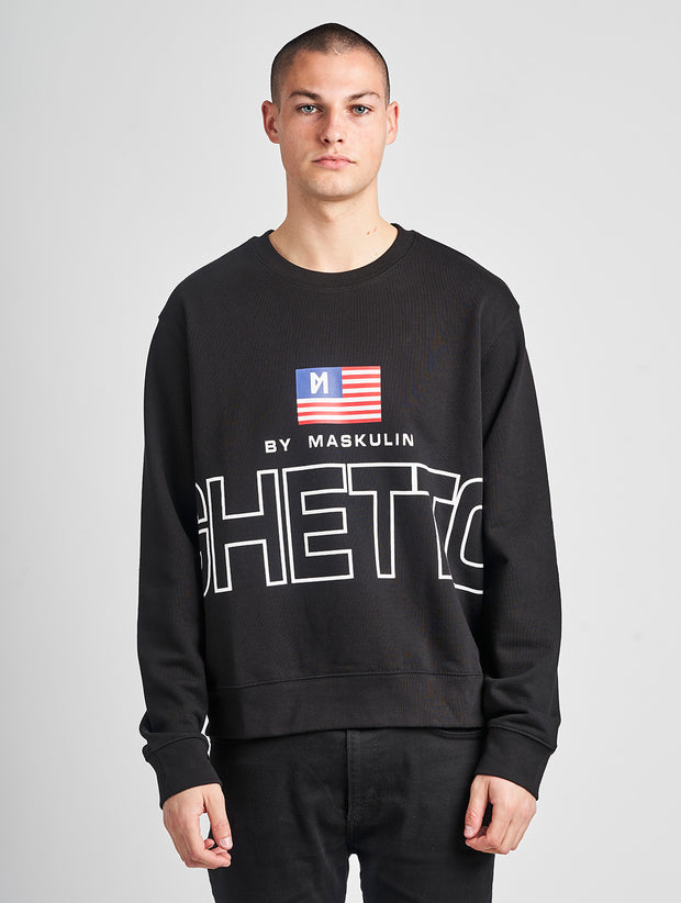Maskulin Lukas Crewneck Black - Maskulin.de Shop