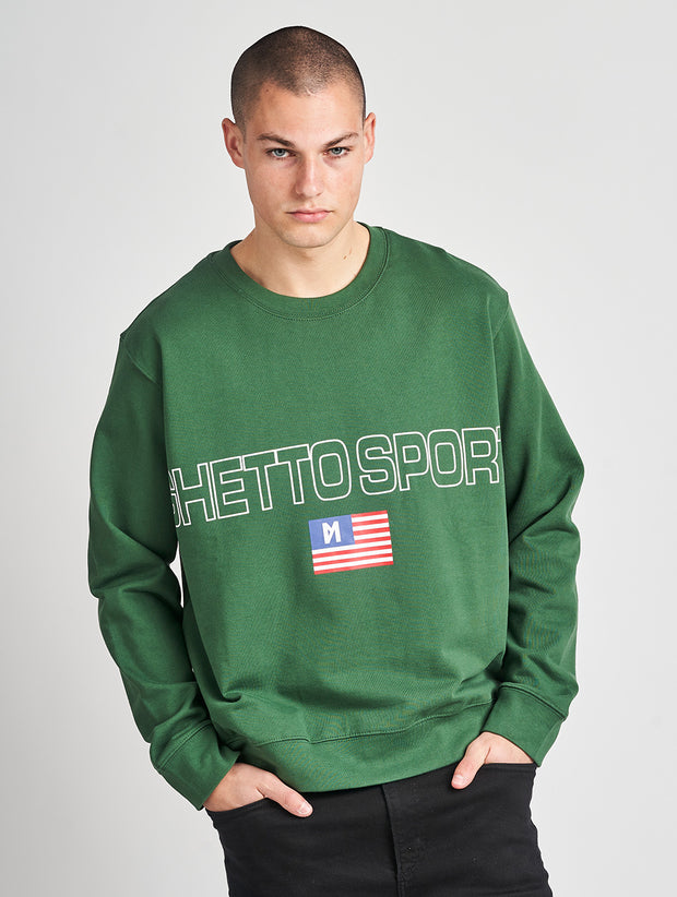 Maskulin Bruno Crewneck Green - Maskulin.de Shop