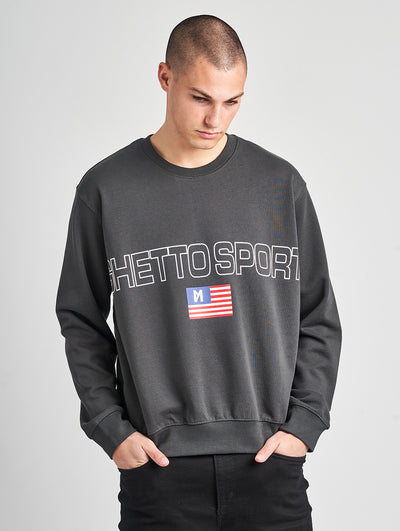 Maskulin Bruno Crewneck Grey - Maskulin.de Shop