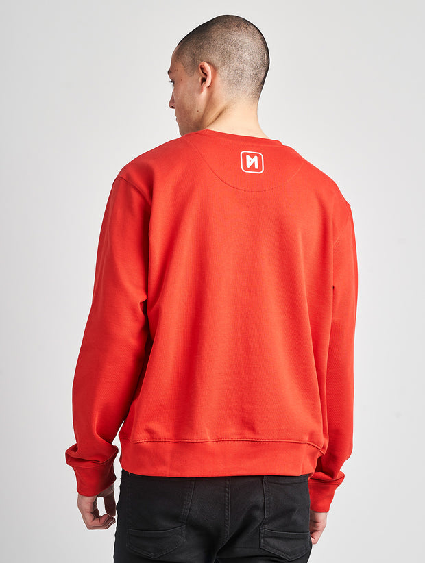 Maskulin Bruno Crewneck Red - Maskulin.de Shop