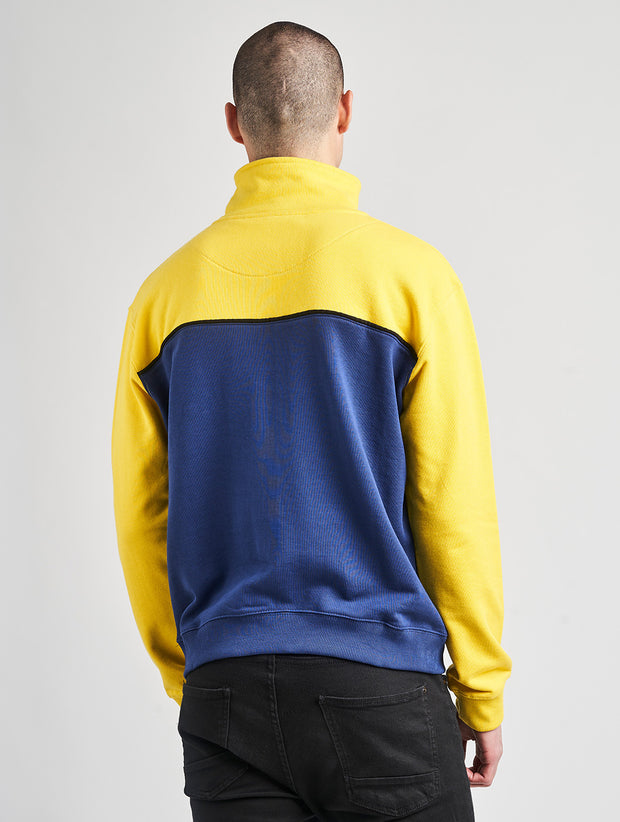 Maskulin Corner Store Crewneck Yellow/Navy - Maskulin.de Shop