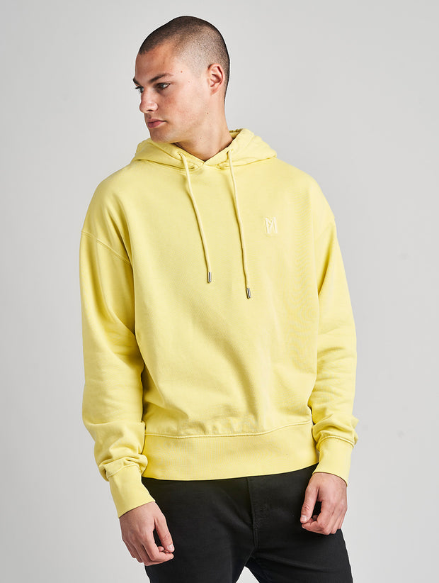 Maskulin Ghetto Basic Hoody Yellow - Maskulin.de Shop