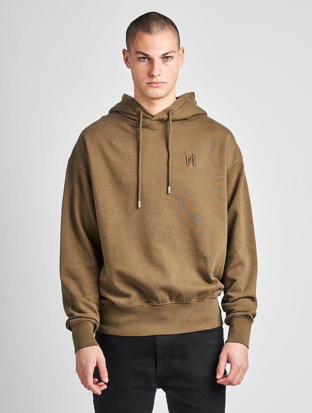 Maskulin Ghetto Basic Hoody Olive - Maskulin.de Shop