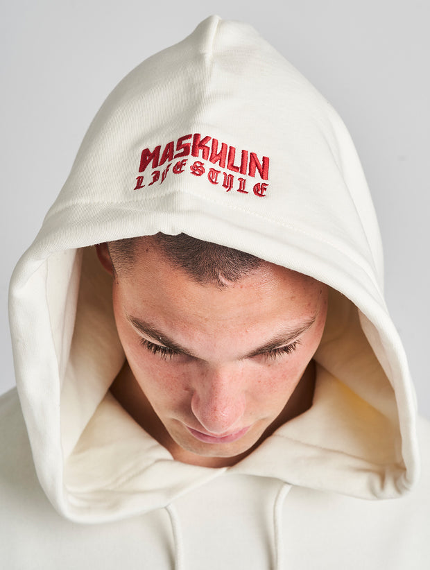 Maskulin GSport Hoody White - Maskulin.de Shop