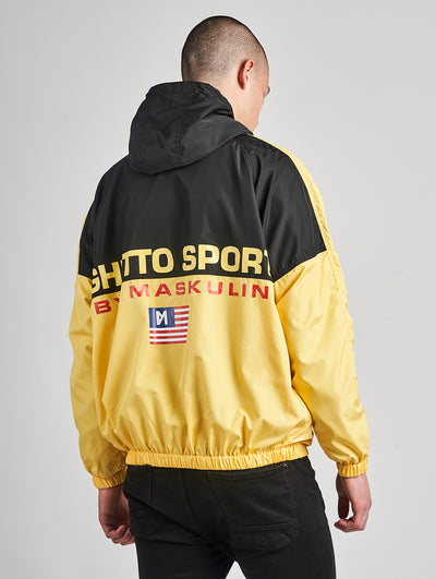 Maskulin GS Windbreaker Black Yellow - Maskulin.de Shop