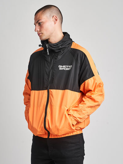Maskulin GS Windbreaker Black Salmon - Maskulin.de Shop