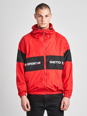 Maskulin Ghetto Windbreaker Red Black - Maskulin.de Shop