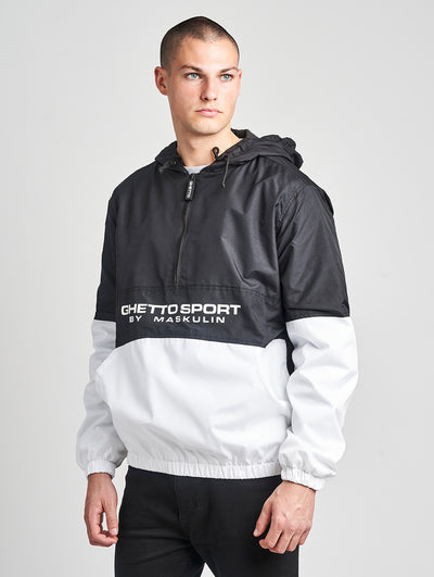 Maskulin Coke Contrast Windbreaker Black/White - Maskulin.de Shop