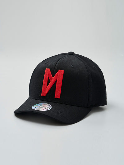 Maskulin Black & Red Logo 110 Curved Snapback - Maskulin.de Shop
