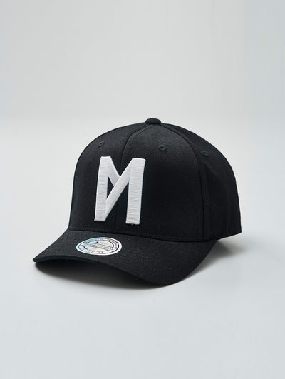 Maskulin Black & White Logo 110 Curved Snapback - Maskulin.de Shop