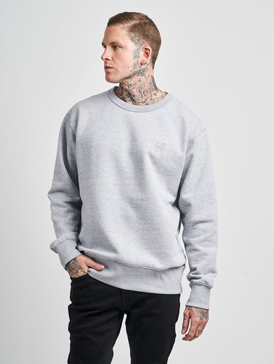 Maskulin Ghetto Basic Crewneck Grey Melange - Maskulin.de Shop