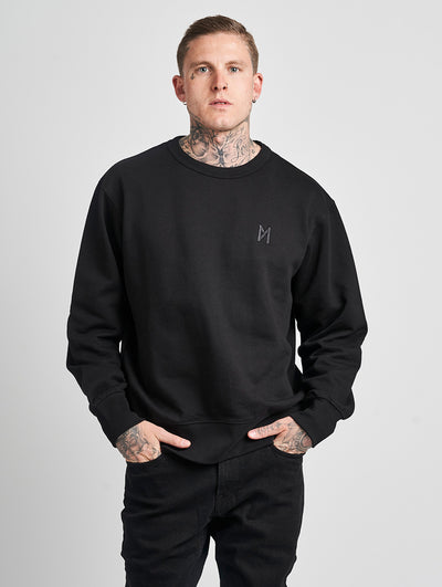 Maskulin Ghetto Basic Crewneck Black - Maskulin.de Shop