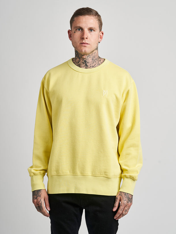 Maskulin Ghetto Basic Crewneck Yellow - Maskulin.de Shop