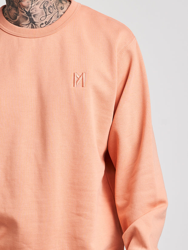 Maskulin Ghetto Basic Crewneck Salmon - Maskulin.de Shop