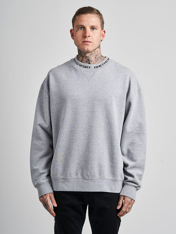 Maskulin Ghetto Crewneck Grey Melange - Maskulin.de Shop