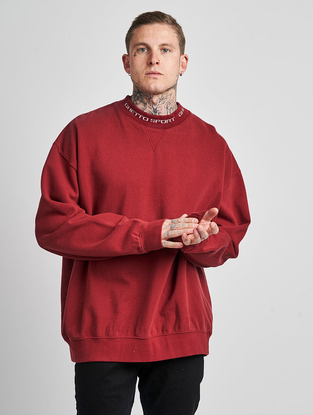 Maskulin Ghetto Crewneck Burgundy - Maskulin.de Shop
