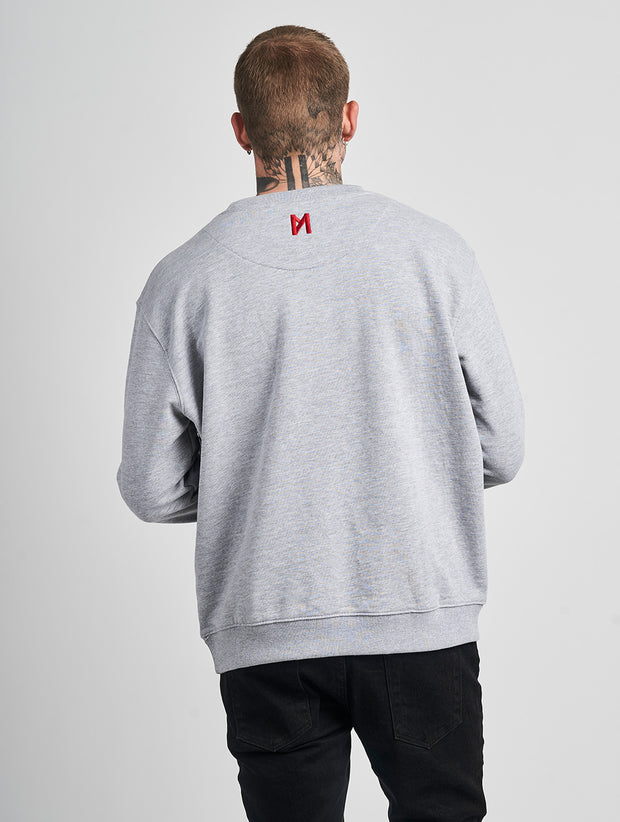 Maskulin GS M Crewneck Grey Melange - Maskulin.de Shop
