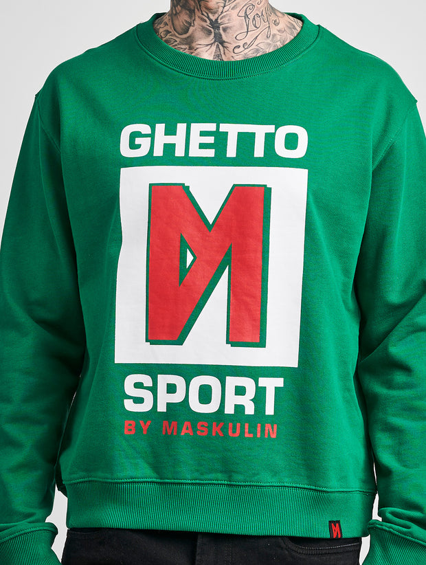 Maskulin GS M Crewneck Green - Maskulin.de Shop