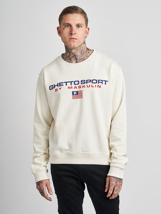 Maskulin GSport Crewneck White - Maskulin.de Shop