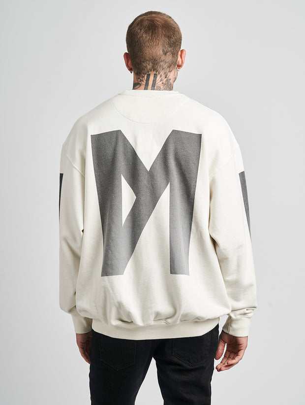 Maskulin M Crewneck Off White - Maskulin.de Shop