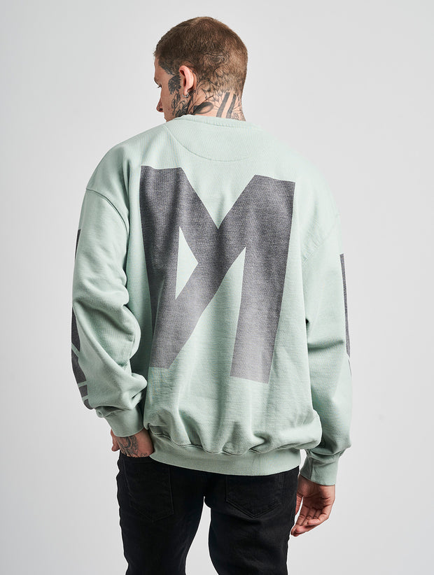 Maskulin M Crewneck Green - Maskulin.de Shop