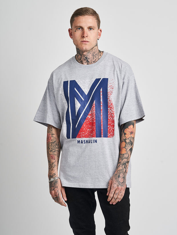 Maskulin Maskulin T-Shirt Grey Melange - Maskulin.de Shop