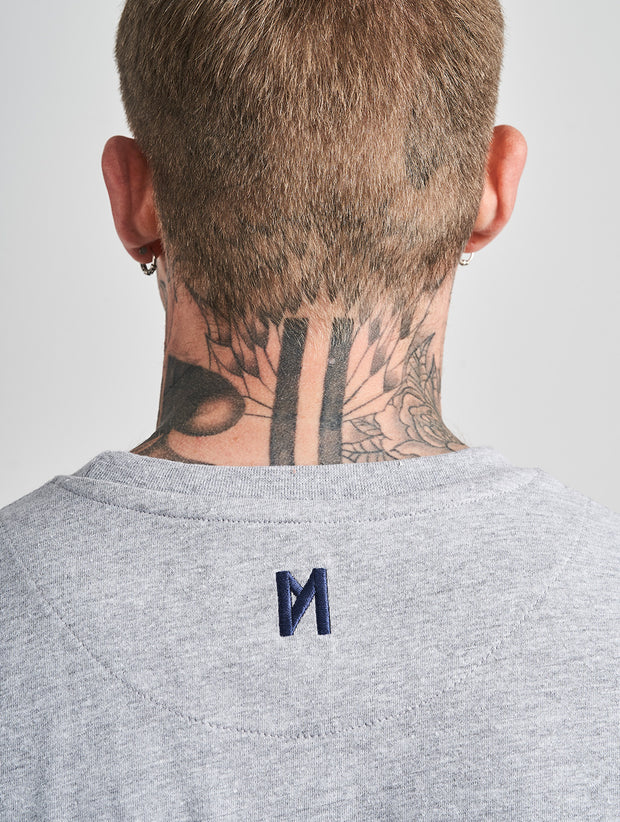 Maskulin Real Brand T-Shirt Grey Melange - Maskulin.de Shop