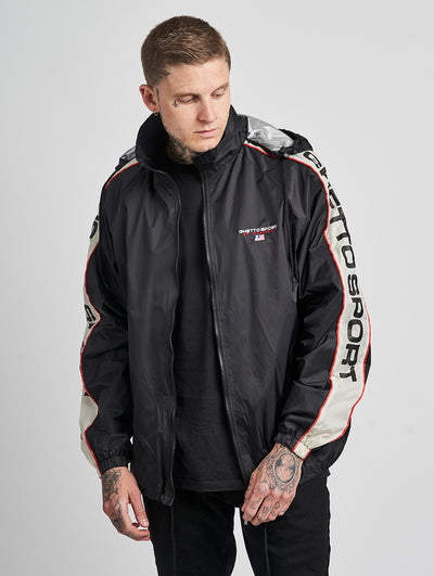 Maskulin Ghetto Sport Windbreaker Black Red - Maskulin.de Shop