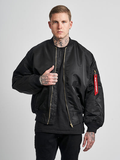 Maskulin GS Bomber Jacket Black - Maskulin.de Shop