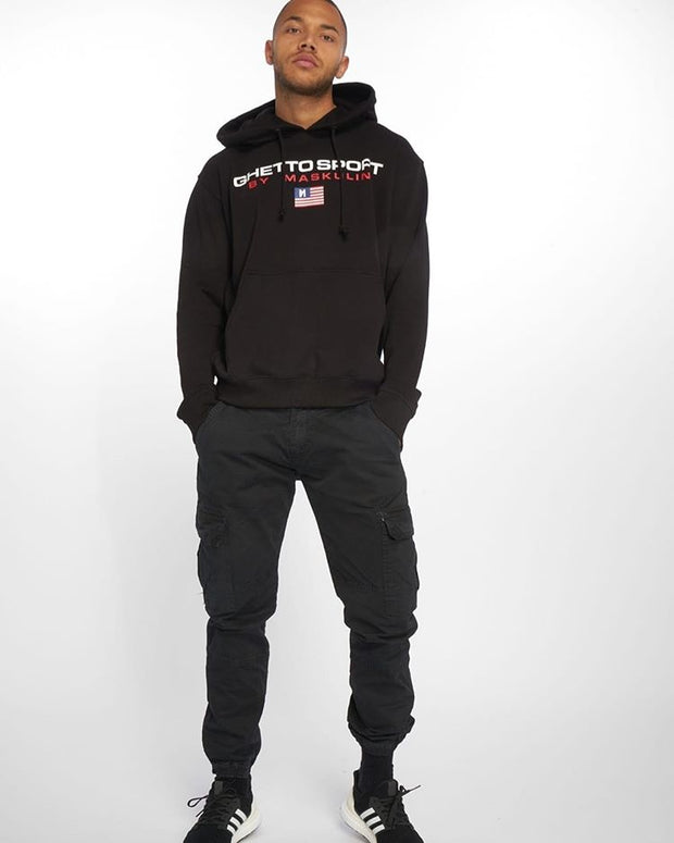 Maskulin Ghettosport Hoody Black - Maskulin.de Shop