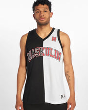 Maskulin Split Logo Mesh Basketball Tank Top - Maskulin.de Shop