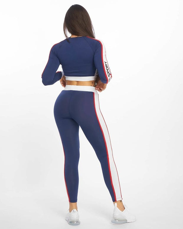 Maskulin Striped Wifey Ghetto Sport Set Blue - Maskulin.de Shop