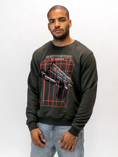Maskulin Laser Beams Crewneck Anthracite - Maskulin.de Shop