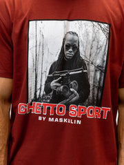 Maskulin Young Ghetto Legends T Shirt Red - Maskulin.de Shop