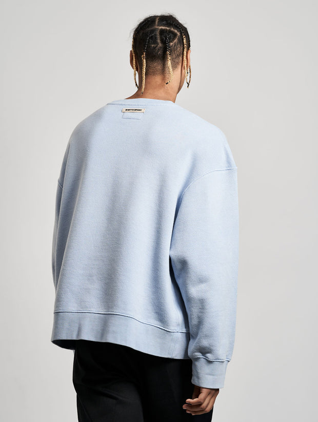 Cutler Crewneck Washed Baby Blue Skies - Maskulin.de Shop