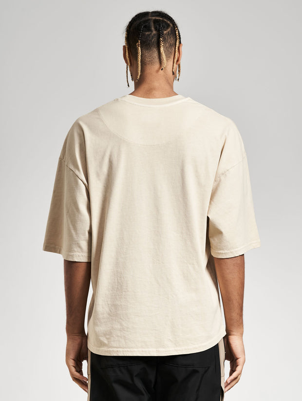 Oversized Cena T-Shirt Washed Concrete - Maskulin.de Shop