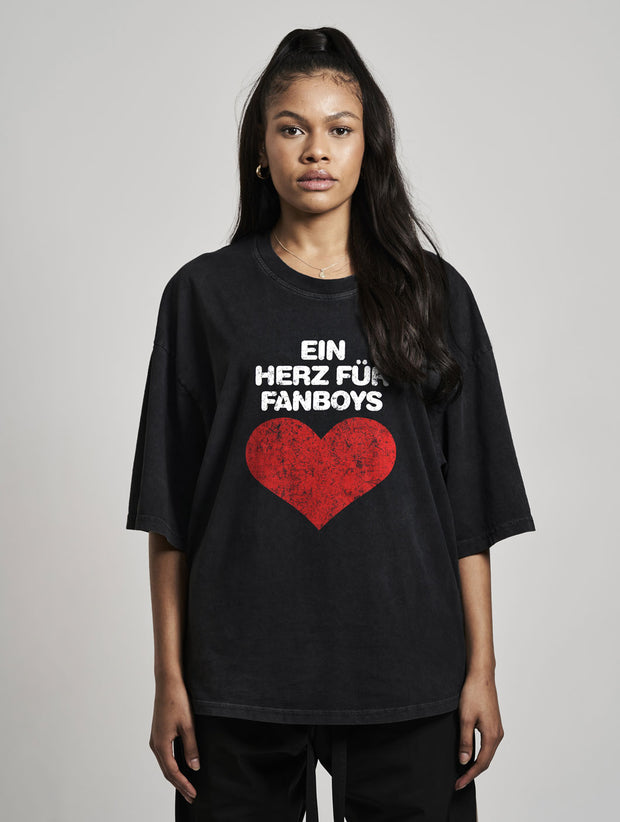 Fanboy Oversized T-Shirt Washed Black - Maskulin.de Shop