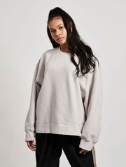 Cutler Crewneck Washed Concrete - Maskulin.de Shop