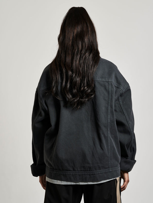 Classic Denim Jacket Washed Black - Maskulin.de Shop