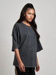 Oversized Cena T-Shirt Washed Black - Maskulin.de Shop