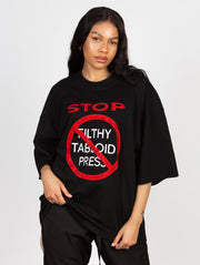 Stop Filthy Tabloid Press T-Shirt Black