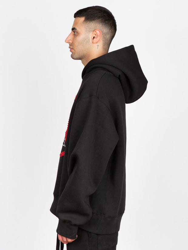 Stop Filthy Tabloid Press Boxy Hoodie Black