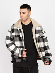 The Trenches Lumber Jacket White&Black