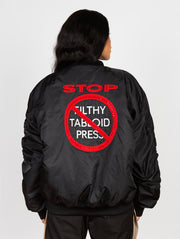 Stop Filthy Tabloid Press Ultimate Bomber Black