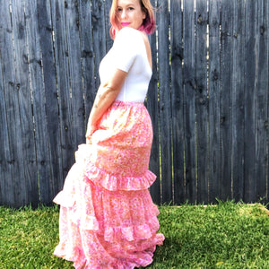 Frilly Maxi Skirt M